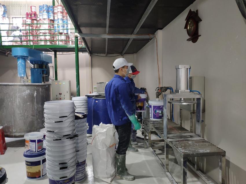 Dự toán sản xuất sơn nước