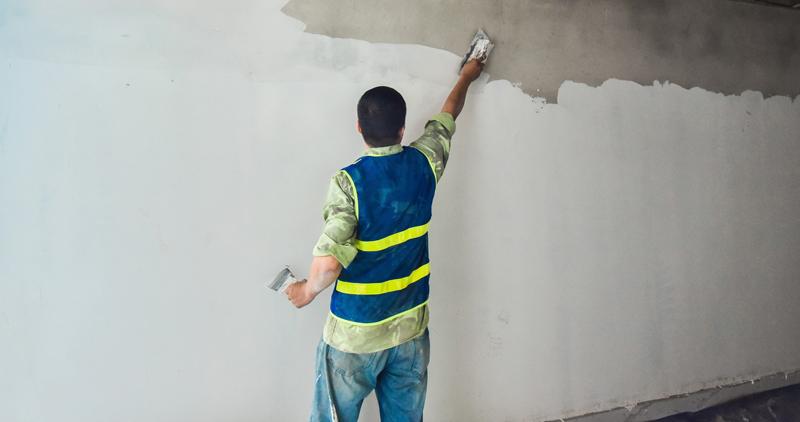 Cách pha bột trét tường