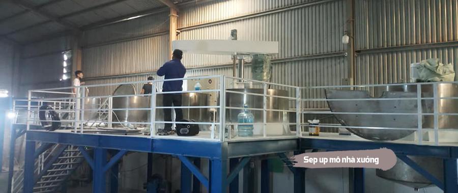 Set nhà máy sản xuất sơn